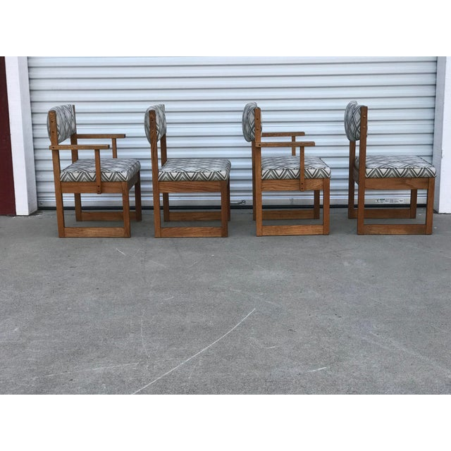 Mid Century Drexel Heritage Dining Chairs with 2 captains chairs.