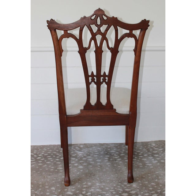 Mahogany Chinese Chippendale Hall Chairs - A Pair For Sale - Image 4 of 10
