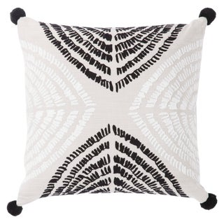 Nikki Chu by Jaipur Living Angelika Black/ Silver Textured Poly Throw Pillow For Sale