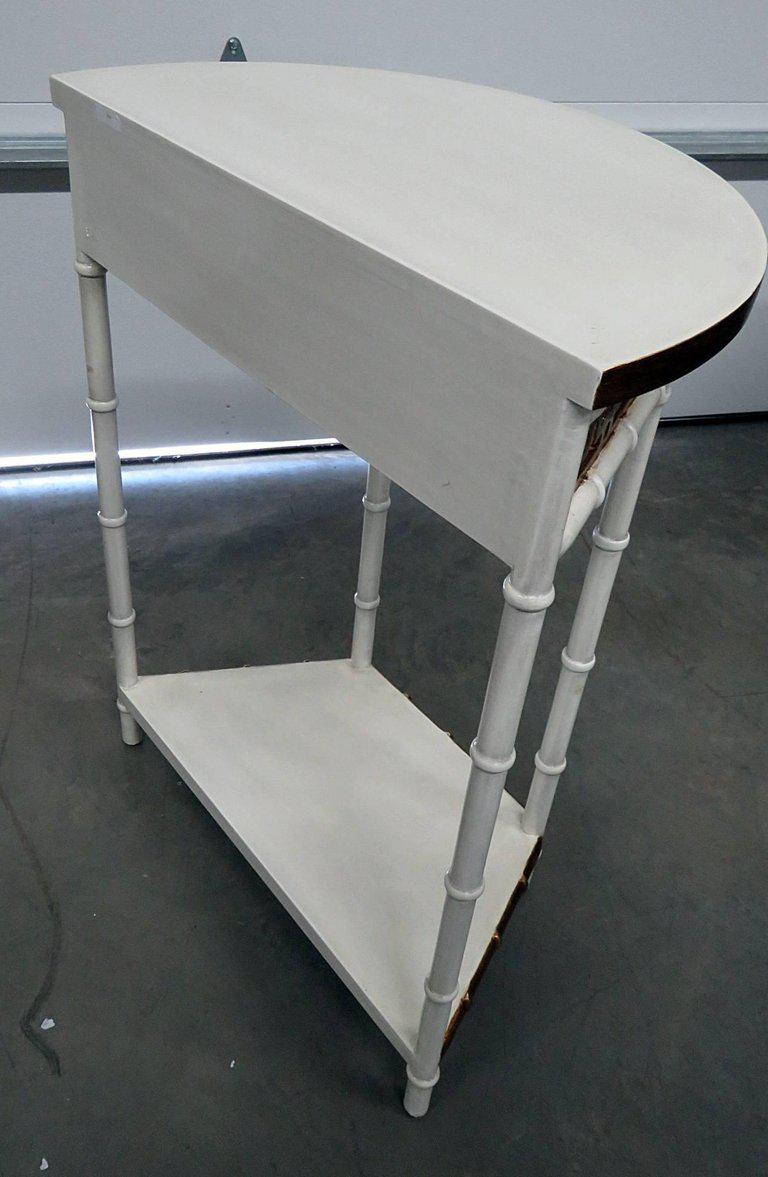 Asian Modern Design Demilune Console Table   Image 8 Of 9