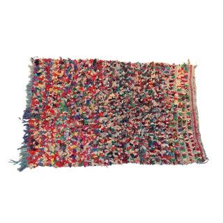 "Vintage Boucherouite Moroccan Rag Rug - 3'10""x5'9"""