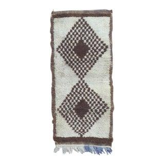 Vintage Moroccan Rug- 2′9″ × 6′2″ For Sale