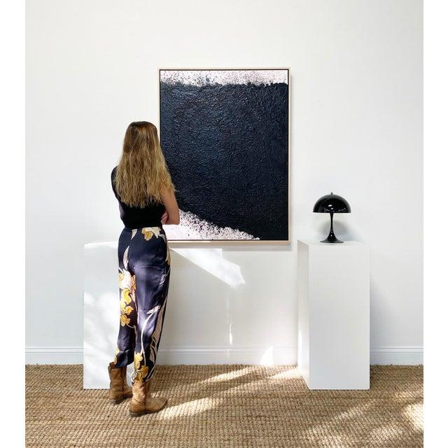 """John O'Hara Exclusive John O'Hara """"Tar, 16"""" Encaustic Painting For Sale - Image 4 of 7"""