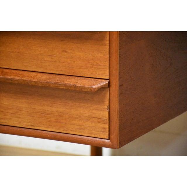 Danish Modern Teak Executive Desk by g.v. Gasvig For Sale - Image 9 of 11
