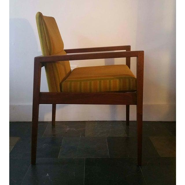 Jens Risom Walnut Cube Desk Chair - Image 4 of 7