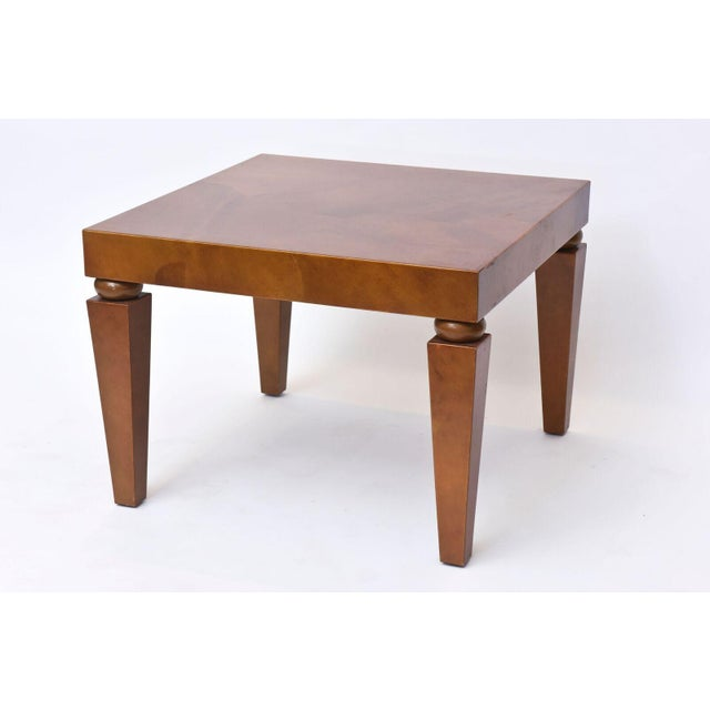 "Wood American Modern ""Goatskin"" Occasional Table, Karl Springer For Sale - Image 7 of 10"