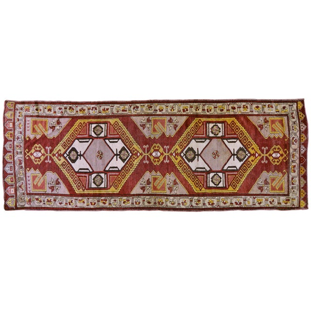 "Vintage Turkish Rug,4'x10'9"" For Sale"