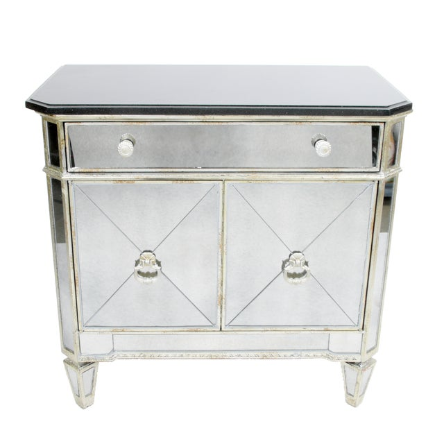 Mirrored Chest with Black Top - Image 1 of 8