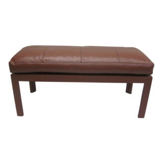 Leather Covered Bench in the Style of Pierre Lottier