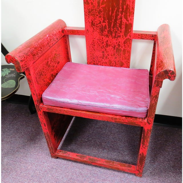 """Tall Asian Alter Chair 81""""High - Image 6 of 6"""