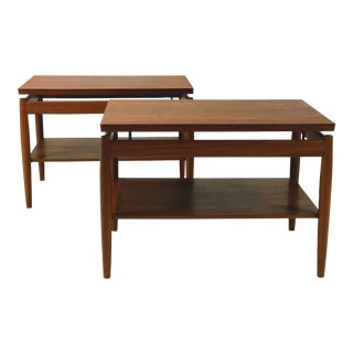 1960s Vintage Peter Hvidt forJohn Stuart Danish Walnut Tables - A Pair For Sale