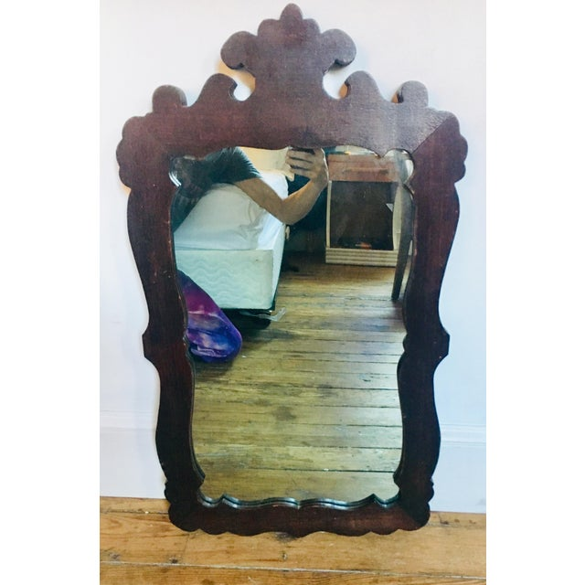 Wood Antique Empire Style Vernacular Mirror For Sale - Image 7 of 7