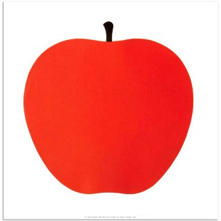 Enzo Mari La Mela Apple Screenprint by Danese Milano, Italy For Sale