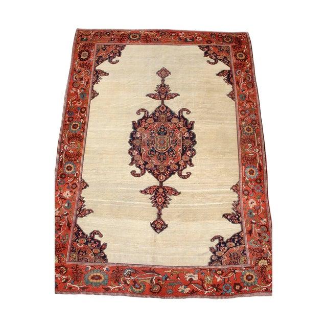 Persian Malayer Sarouk Rug - 7′ × 10′3″ For Sale