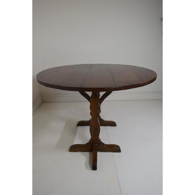 19th-Century French Oak Wine Tasting Table For Sale - Image 4 of 8