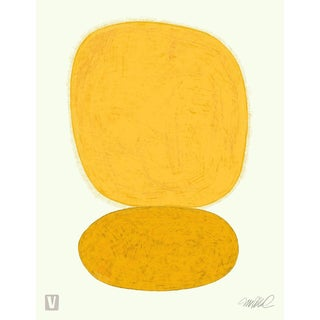 Xtra Large Sun Over Sun Giclee Print on Watercolor Paper. For Sale