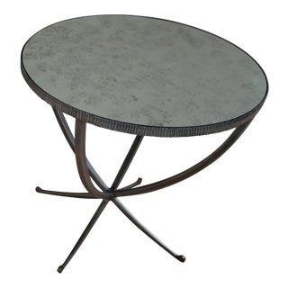 Bernhardt Carlow Round Side Table For Sale