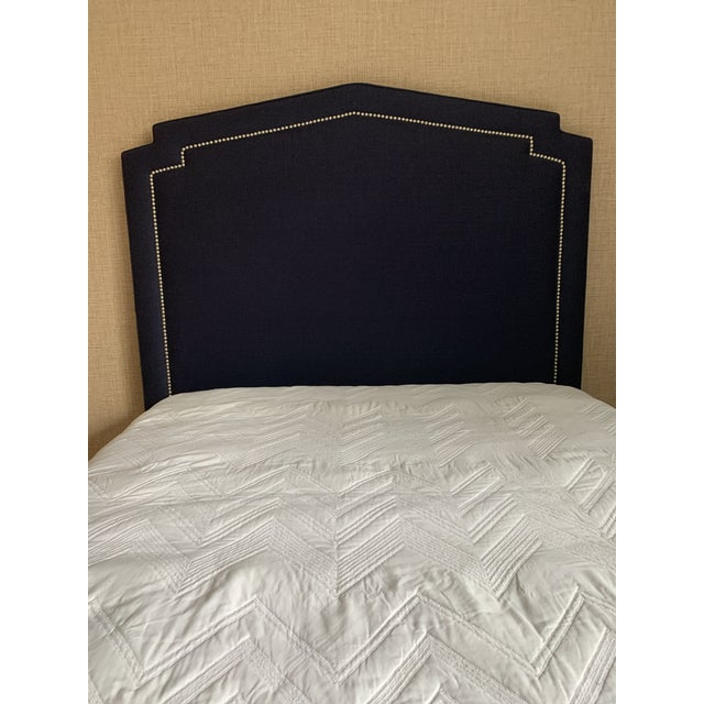 Blue Serena and Lilly Full Size Upholstered Bed For Sale - Image 8 of 10