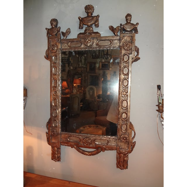18th Century Italian Gilt Wood Mirror For Sale - Image 9 of 9