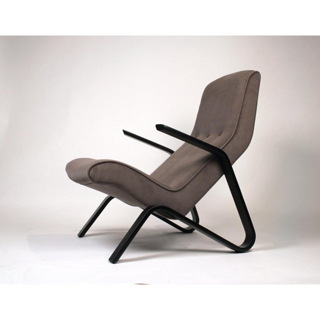 1950s Pair of Early Eero Saarinen Grasshopper Chairs for Knoll With Rare Black Frames For Sale - Image 5 of 10