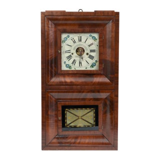 Early 19th Century American Bristol Walnut Case Wall Clock For Sale