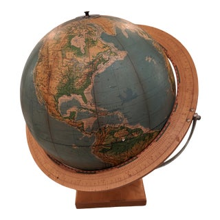 Earth Visual Relief Globe Denoyer-Geppert Co. For Sale