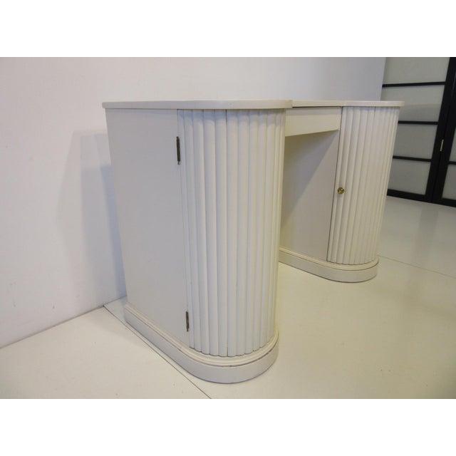Regency Mid Century Regency Styled Column Desk by Kittinger For Sale - Image 3 of 10