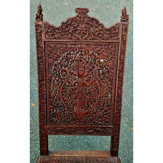Asian 19th C Figural Carved Wood Burmese Chair - Image 5 of 10