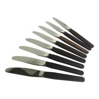 Dansk Rosewood Handle Knives - Set of 8