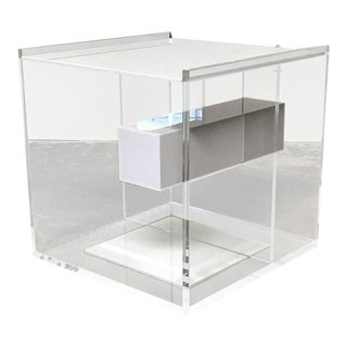 Zanotta 'Segreto' Lucite Bedside Side Table by Ilaria Marelli and Diana Eugeni