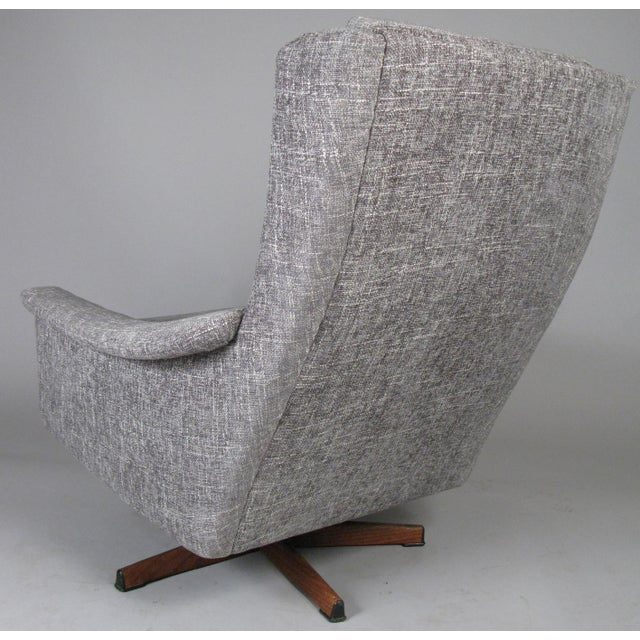 1950s Danish High Back Swivel Lounge Chairs - a Pair For Sale - Image 11 of 13
