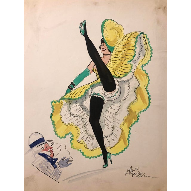1950s Mid-Century Parisian Can Can Dancer by Alice Huertas For Sale - Image 5 of 5