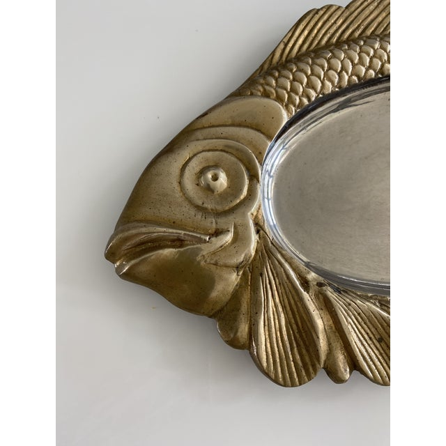 Mid Century Brass Fish Catchall For Sale In New York - Image 6 of 7