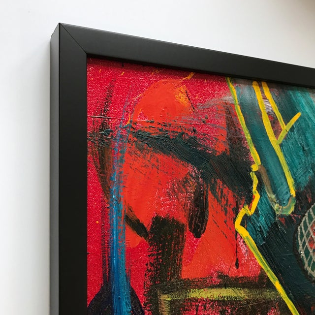 Abstract Vito Corriero Framed Original Robot Abstract Painting For Sale - Image 3 of 5