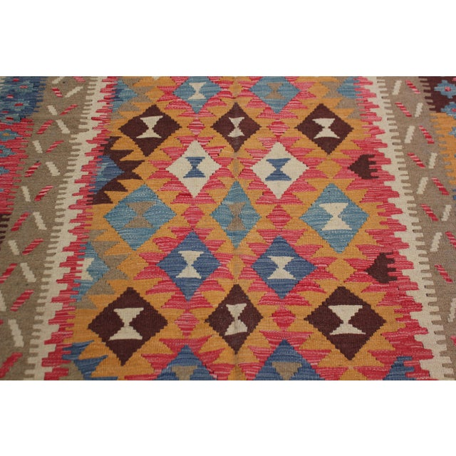 "Boho Chic Aara Rug Inc. Hand-Knotted Kilim - 8'4"" X 5'4"" For Sale - Image 3 of 4"