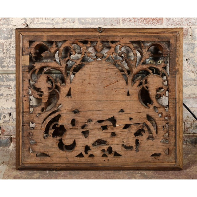 Antique Rococo Carved Wood Wall Panel For Sale - Image 11 of 11