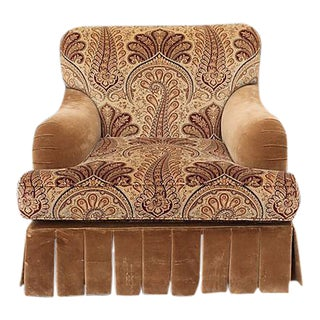 Baker Furniture Paisley Armchair For Sale
