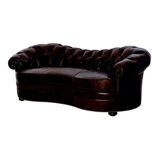Century Furniture Glenbrooke Sofa, Graphite Leather For Sale