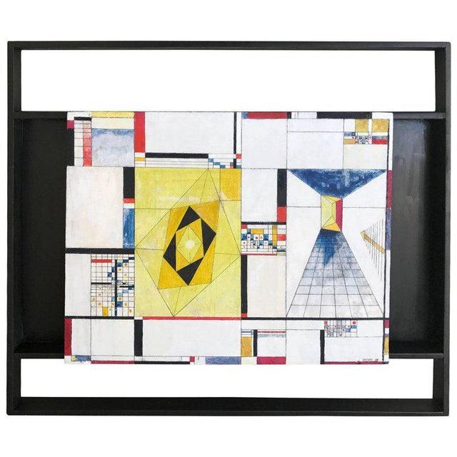 James McCray, 1945 Abstract Geometric San Francisco Museum of Art Exhibition Tag For Sale - Image 11 of 11