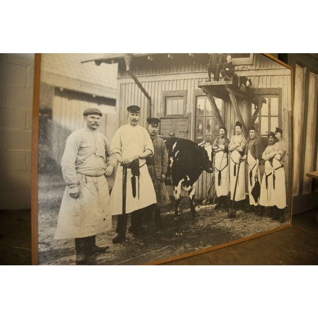 Large Vintage Butcher Photo For Sale - Image 4 of 4