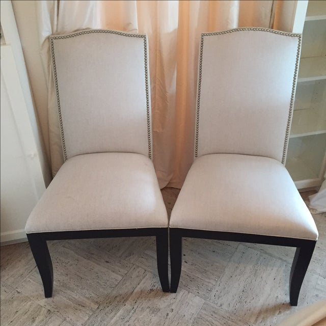 Crate & Barrel Colette II Chairs - A Pair - Image 2 of 8