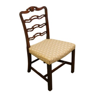 1940's Traditional Duncan Phyfe Mahogany Ladderback Dining Chair
