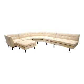 Edward Wormley for Dunbar Sectional Sofa With Ottoman For Sale