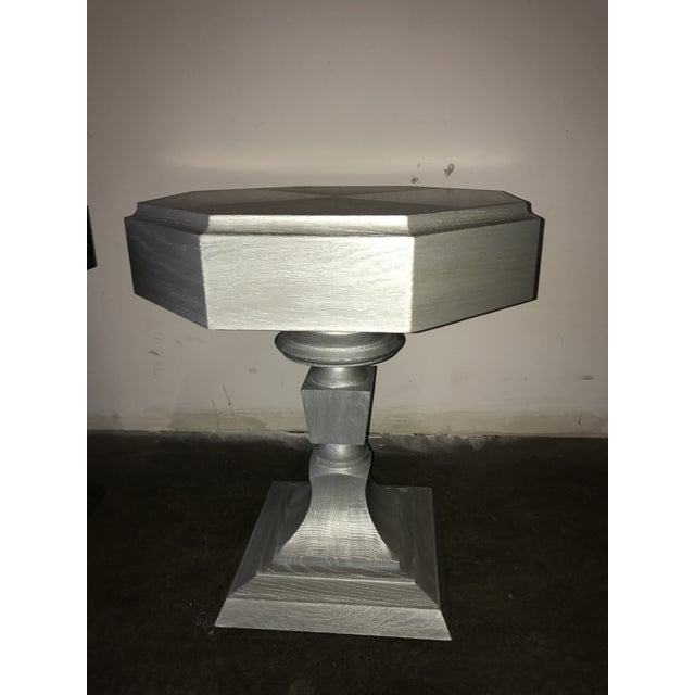 Truex Grey Oak Ceruse Rook Side Table - Image 2 of 4