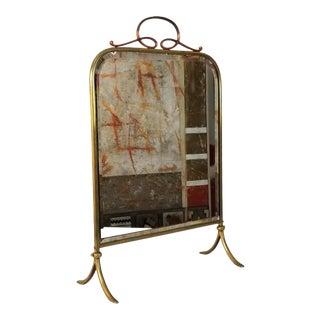 1960s Italian Vintage Brass Vanity or Floor Mirror For Sale