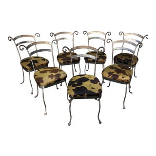 Hand Forged Steel Dining Chairs - Set of 7