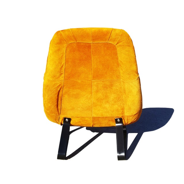 1970s Mid-Century Modern Percival Lafer Brazilian Space Age Earth Lounge Chair and Ottoman For Sale - Image 5 of 9