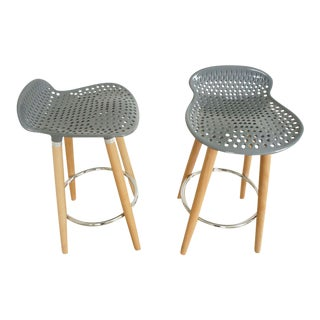 Scandinavian Counter Stools- Set of 4 For Sale