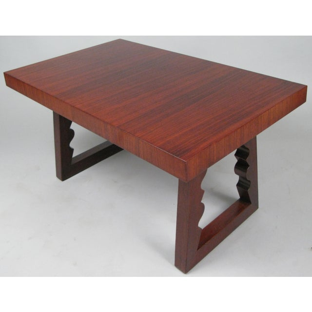 Wood 1948 Rosewood & Mahogany Cocktail Table by Andrew Szoeke For Sale - Image 7 of 7