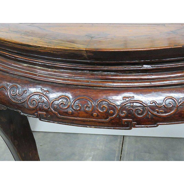 Early 20th Century Antique Demilune Hall Table For Sale - Image 5 of 13